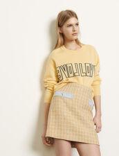Kurzer Tweedrock : Röcke & Shorts farbe Beige
