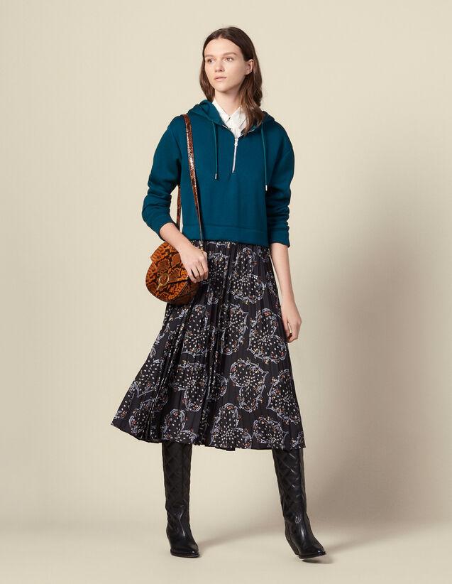 Kleid mit Trompe-l'œil-Effekt : Kleider farbe Grün