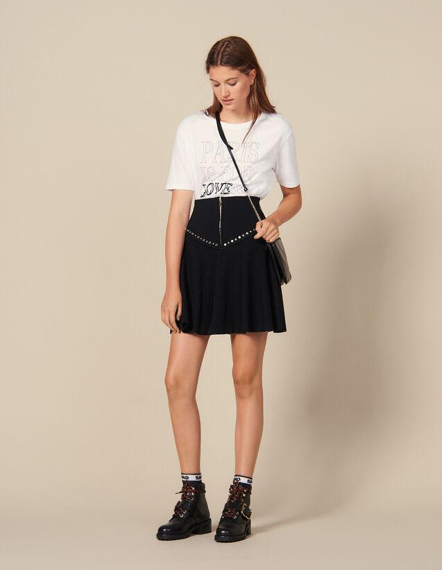 Ausgestellter Rock Mit Reißverschluss : Röcke & Shorts farbe Schwarz