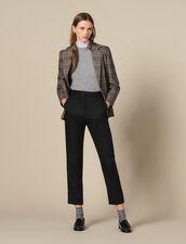 Taillierte Hose mit Rippenfalten : LastChance-ES-F50 farbe Schwarz