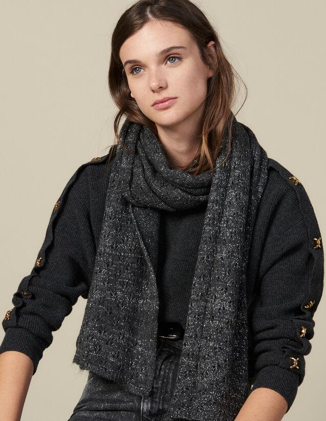 Schal Aus Lurex : Scarves farbe Schwarz