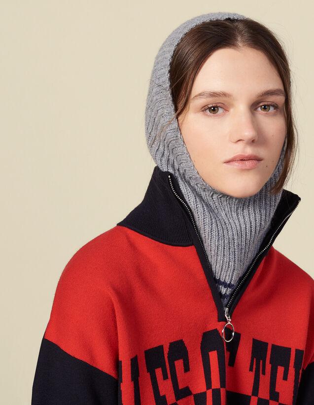 Maske aus Wolle & Kaschmir : Handschuhe & Mütze farbe Creme
