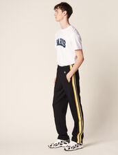 Jersey-Jogginghose Mit Gestreifter Borte : Hosen & Shorts farbe Schwarz