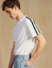 T-Shirt Mit Streifenborten : LastChance-CH-HSelection-Pap&Access farbe Weiß