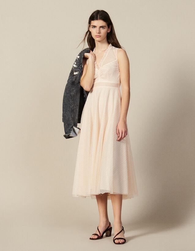 Langes Kleid aus besticktem Tüll : FBlackFriday-FR-FSelection-30 farbe Rost