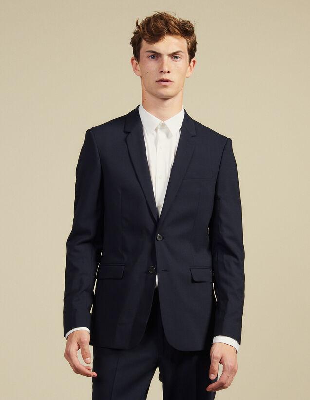 Klassisches Anzugsakko aus Wolle : Anzüge & Smokings farbe Marine