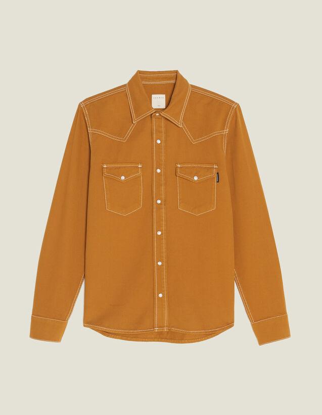 Hemd Aus Baumwolltoile : Hemden farbe Ocker