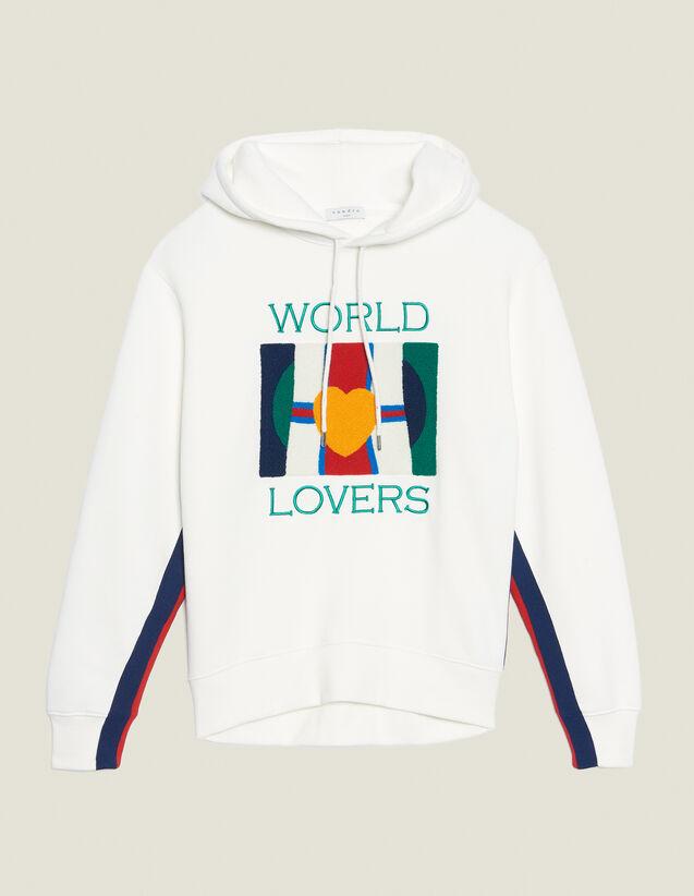 Kapuzen-Sweatshirt Mit Stickereien : Sweatshirts farbe Weiß