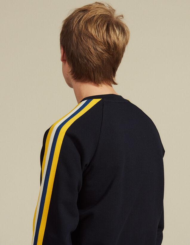 Sweatshirt Aus Baumwolle Mit Borten : Sweatshirts farbe Marine