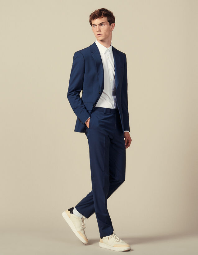 Klassische Super 110 Anzughose : Die ganze Winterkollektion farbe Pétrole