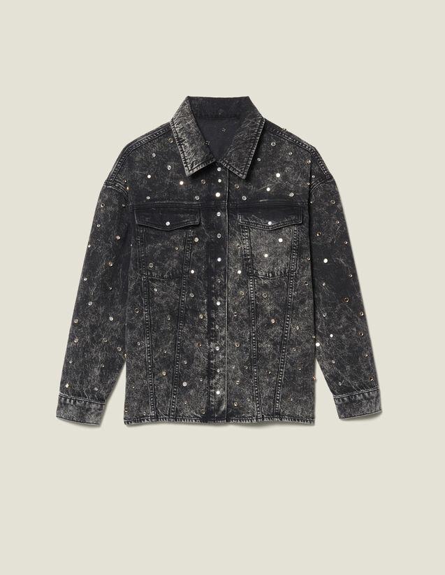 Jeanshemdbluse Mit Nieten : Tops & Hemden farbe Schwarz