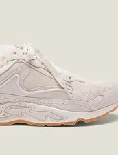 Sneaker Flame aus Leder : Schuhe farbe Ecru