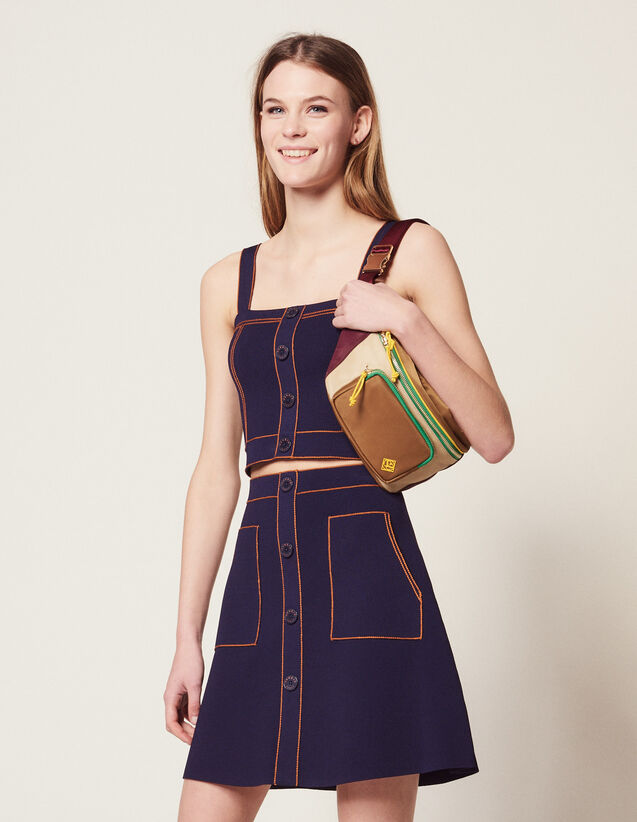 Kurzer Strickrock : Röcke & Shorts farbe Marine
