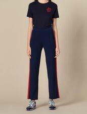 Jogginghose aus Strick : Hosen farbe Marine
