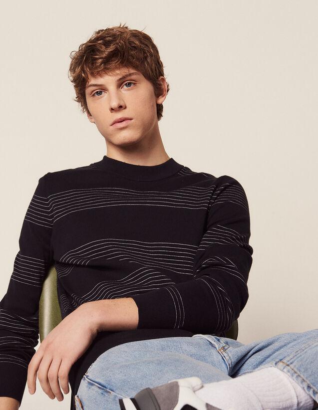 Pullover Aus Baumwolle Mit Streifen : Pullovers & Cardigans farbe Marine
