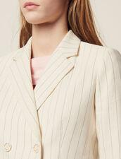 Kostümjacke Mit Schmalen Streifen : null farbe Weiß