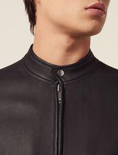 Blouson Aus Leder Mit Reißverschluss : HSF-UK-PAP&ACCESS farbe Schwarz