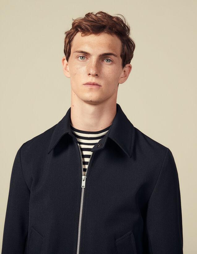 Reißverschluss-Blouson aus Woll-Twill : Blousons & Jacken farbe Marine