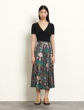 Langer Rock mit Print : Röcke & Shorts farbe Schwarz