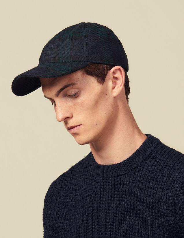 Kappe Mit Tartanmotiv : Kappen farbe Vert foncé
