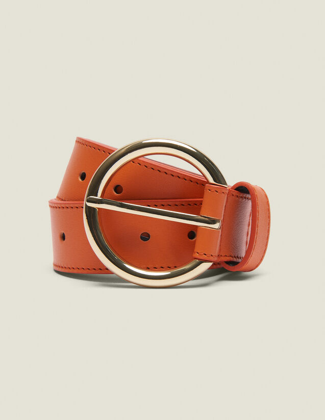 Gürtel Aus Leder : Sommer Kollektion farbe Orange