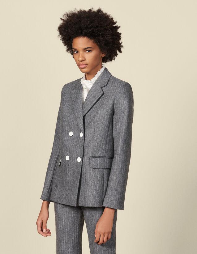 Kostümjacke aus Flanell : Blousons & Jacken farbe Grau