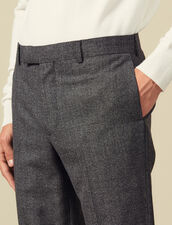 Melierte Anzughose Aus Wolle : Anzüge & Smokings farbe Grau Meliert