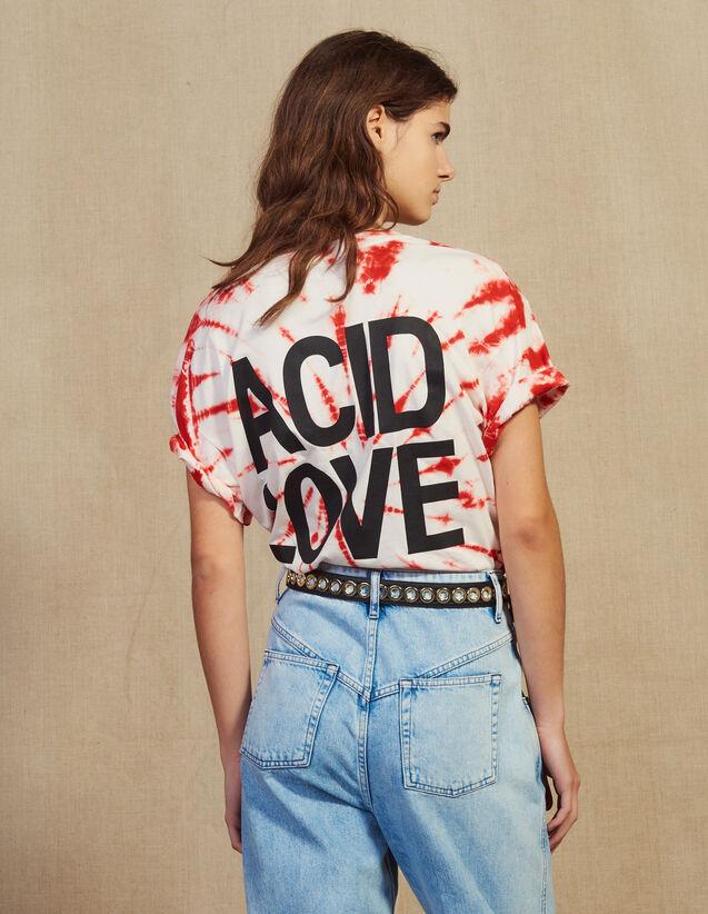 T-Shirt Mit Tie & Dye Motiv : T-shirts farbe Rot