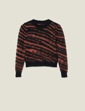 Flauschiger Pullover Mit Zebra-Jacquard : LastChance-ES-F50 farbe Noir / Acajou
