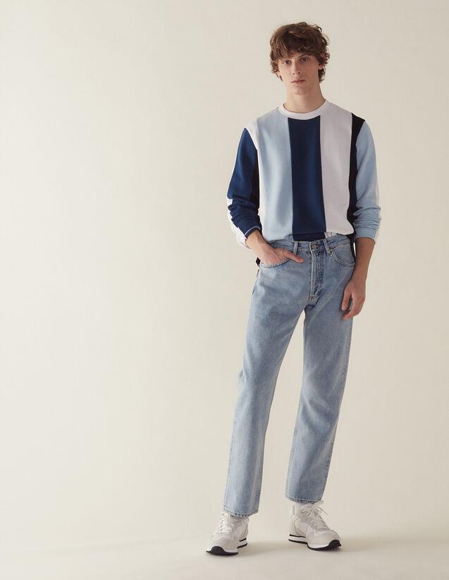 Sweatshirt Mit Breiten Kontraststreifen : Sweatshirts farbe Blau