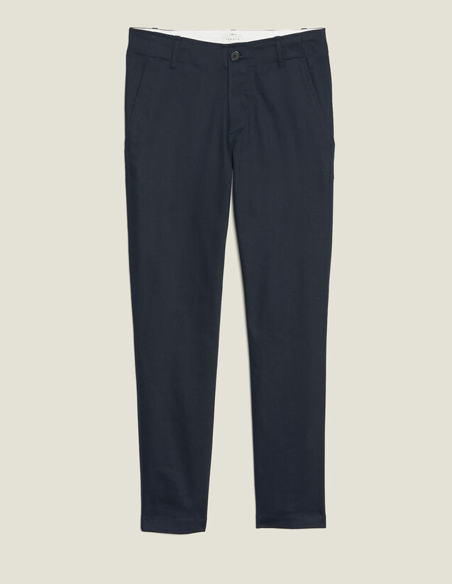 Gerade Geschnittene Chinohose : Hosen & Shorts farbe Marine