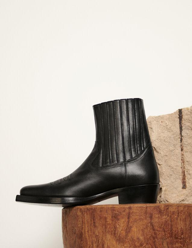 Cowboystiefeletten : Schuhe farbe Schwarz