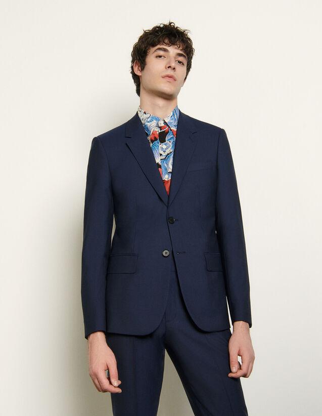 Anzugsakko aus leichtem Wolltuch : Anzüge & Smokings farbe Blau