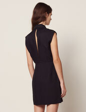 Kleid Mit Schneider Kragen : null farbe Schwarz