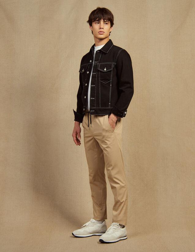 Hose Mit Elastischem Bund Aus Baumwolle : Hosen & Shorts farbe Beige