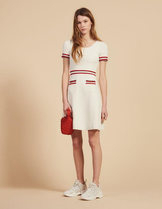 Kleid Aus Strick : Kleider farbe Ecru