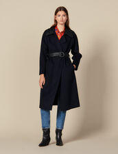 Doubleface-Trenchcoat Aus Wolle : Mäntel farbe Navy
