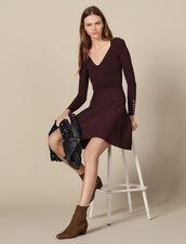 Strickkleid mit Schmuckknöpfen : Kleider farbe Brown