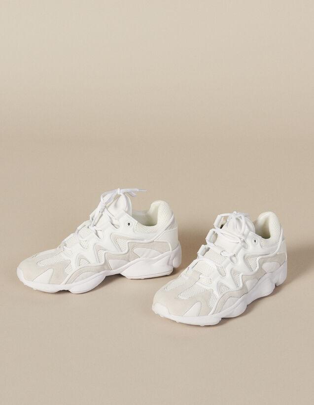 Sneaker Aus Materialmix : Schuhe farbe Beige