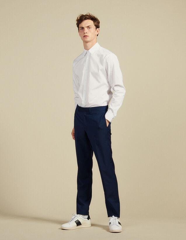 Anzughose Aus Mohair-Wolle : Anzüge & Smokings farbe Blau