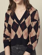 Pullover mit V-Ausschnitt : LastChance-ES-F20 farbe Bunt