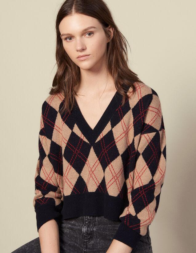 Pullover mit V-Ausschnitt : Pullover & Cardigans farbe Bunt
