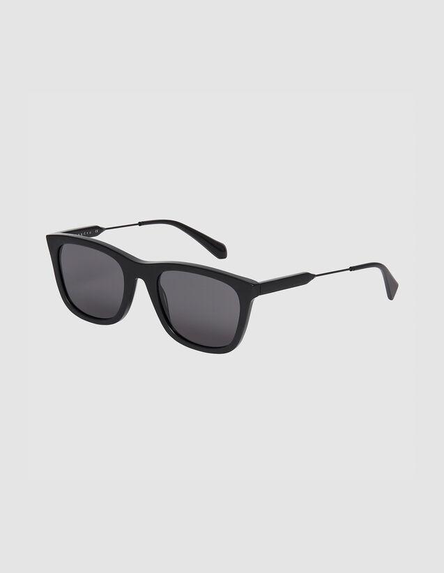 Rechteckige Sonnenbrille : Sonnenbrille farbe Schwarz