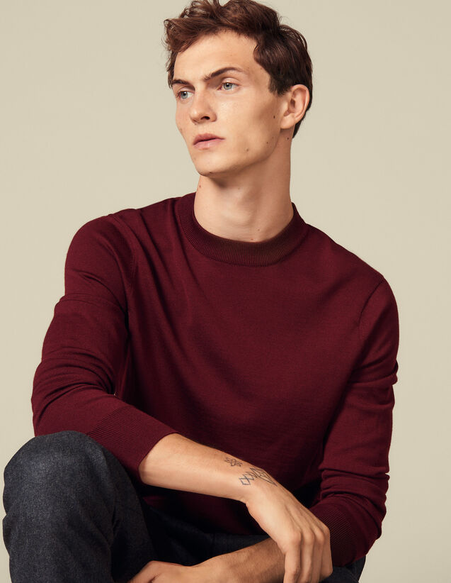Pullover aus Woll-Feinstrick : Pullovers & Cardigans farbe Bordeaux
