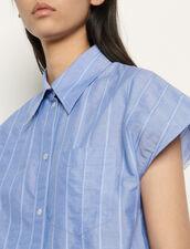 Ärmellose Oversize Hemdbluse : Tops & Hemden farbe Blau