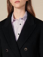 Zweireihiger Wollblazer : Blousons & Jacken farbe Schwarz