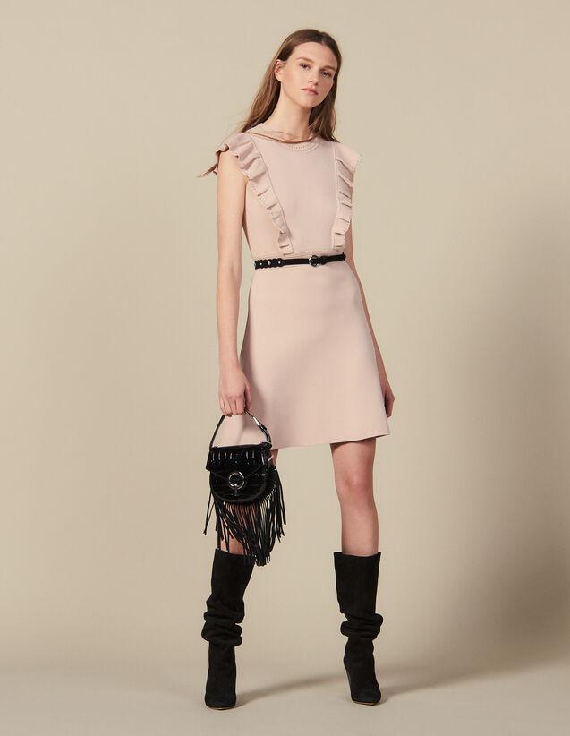 Kleid aus Rippstrick mit Perlen : FBlackFriday-FR-FSelection-Robes farbe Hautfarbe