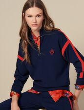Pullover mit Stehkragen : Pullover & Cardigans farbe Marine