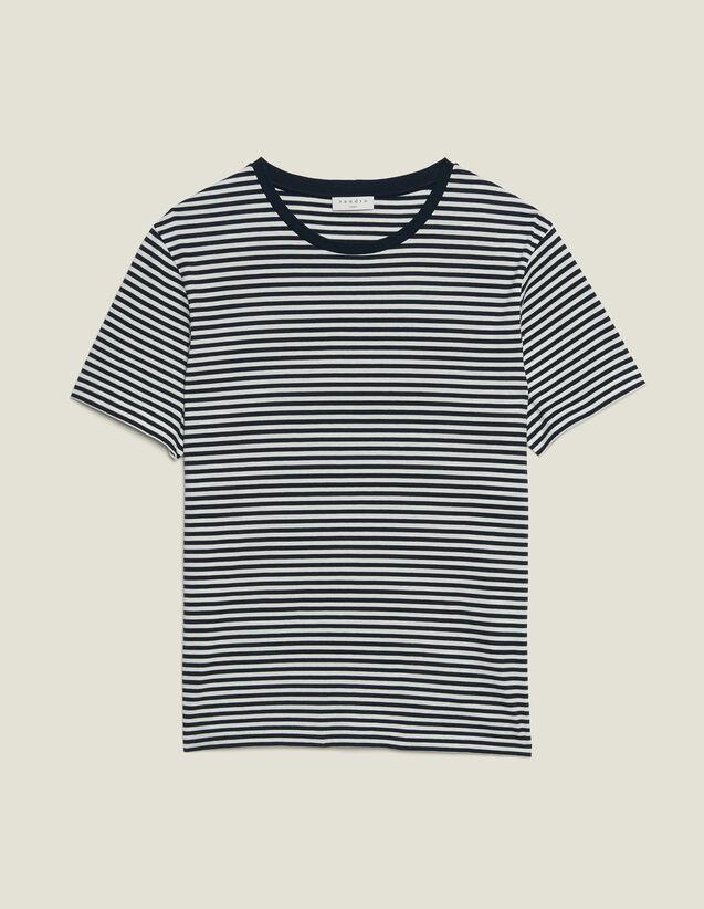 T-Shirt Im Matrosenstil : T-Shirts & Polos farbe Marine/Weiss