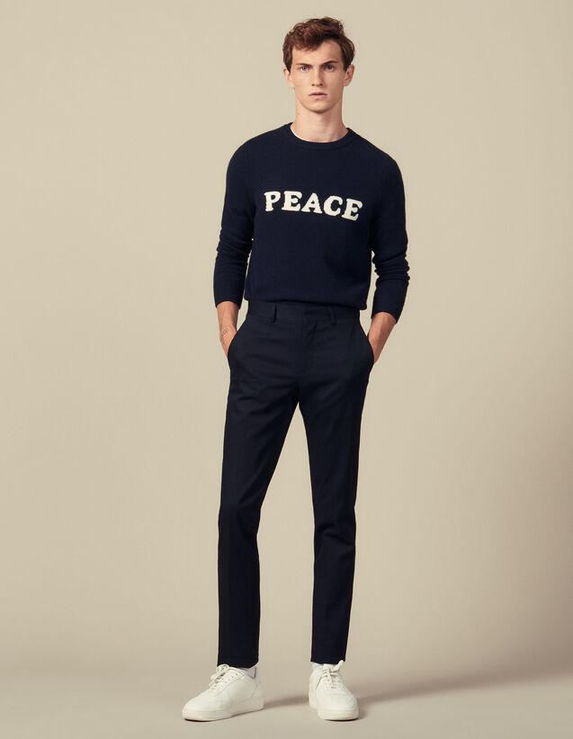 Slim-Fit-Hose Mit Stretchanteil : Hosen & Shorts farbe Marine